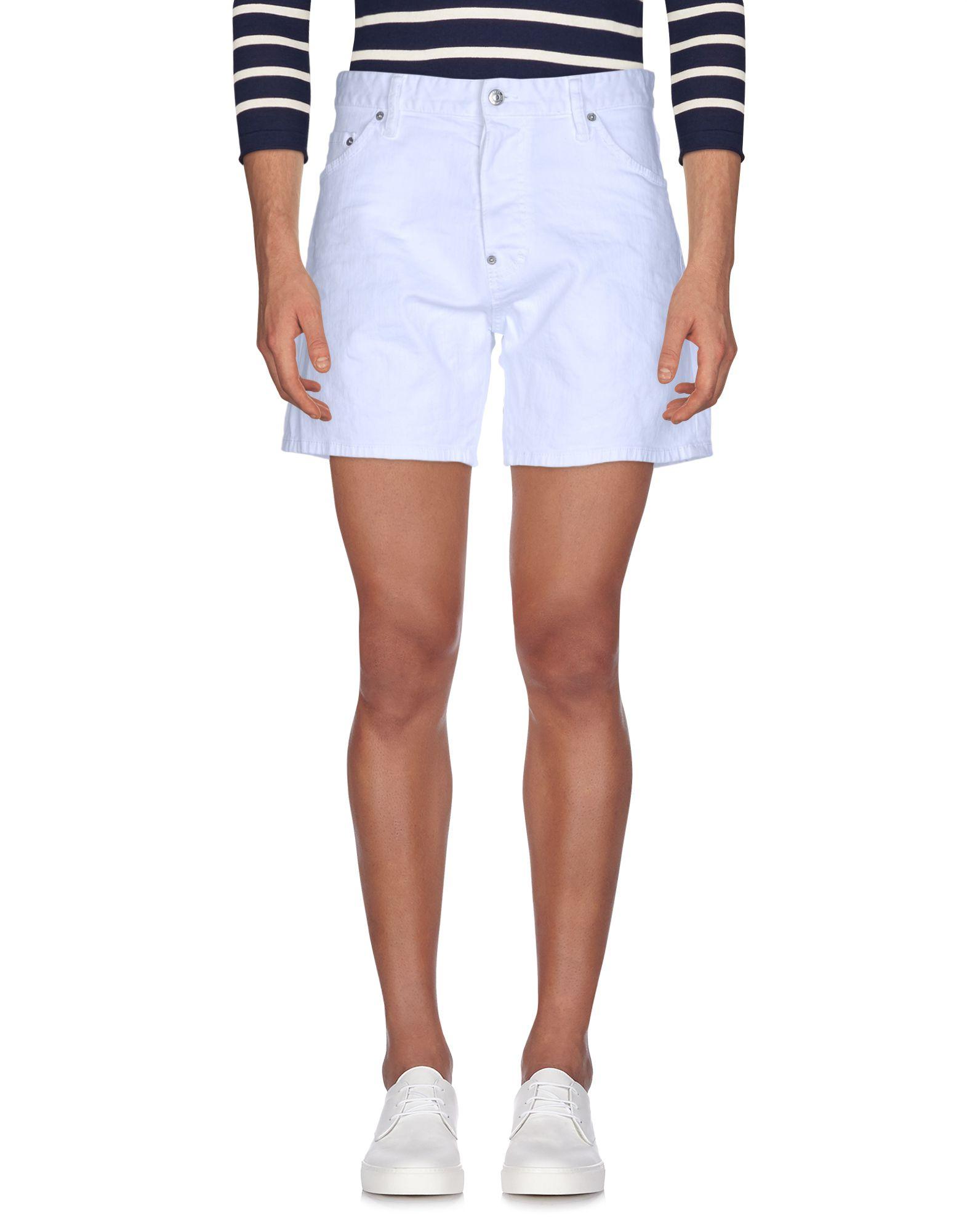 DSQUARED2 Herren Jeansbermudashorts Farbe Weiß Größe 4