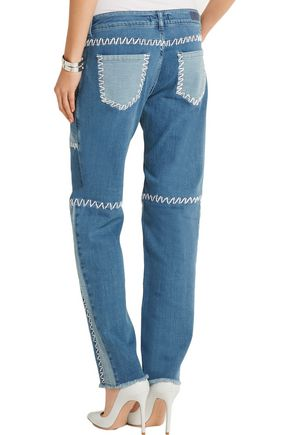 ... HOUSE OF HOLLAND Patchwork high-rise boyfriend jeans