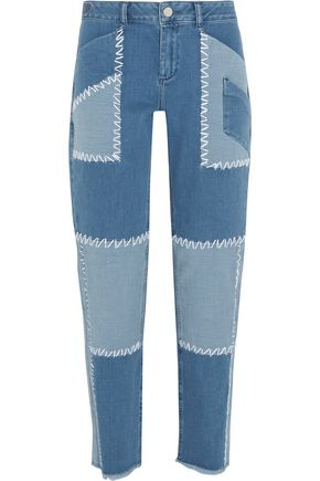 HOUSE OF HOLLAND Patchwork high-rise boyfriend jeans