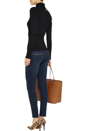 MICHAEL MICHAEL KORS Crystal-embellished mid-rise skinny jeans