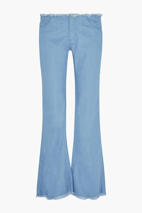 MARQUES ALMEIDA Frayed metallic denim bootcut jeans