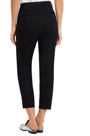 KÉJI Cropped high-rise slim-leg jeans