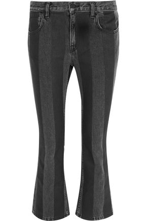 ALEXANDER WANG Mid-rise striped flared jeans