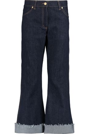 NATASHA ZINKO High-rise cropped flared jeans