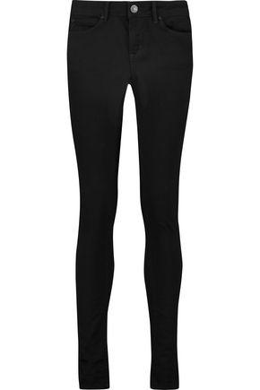 SANDRO Mid-rise slim-leg jeans