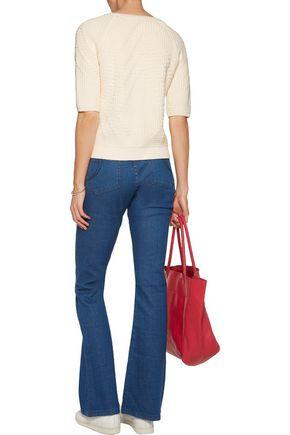 MAJE Mid-rise flared jeans
