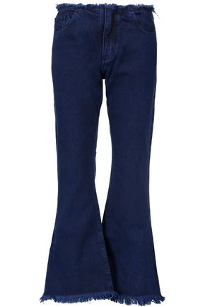 MARQUES ALMEIDA Mid-rise frayed flared jeans