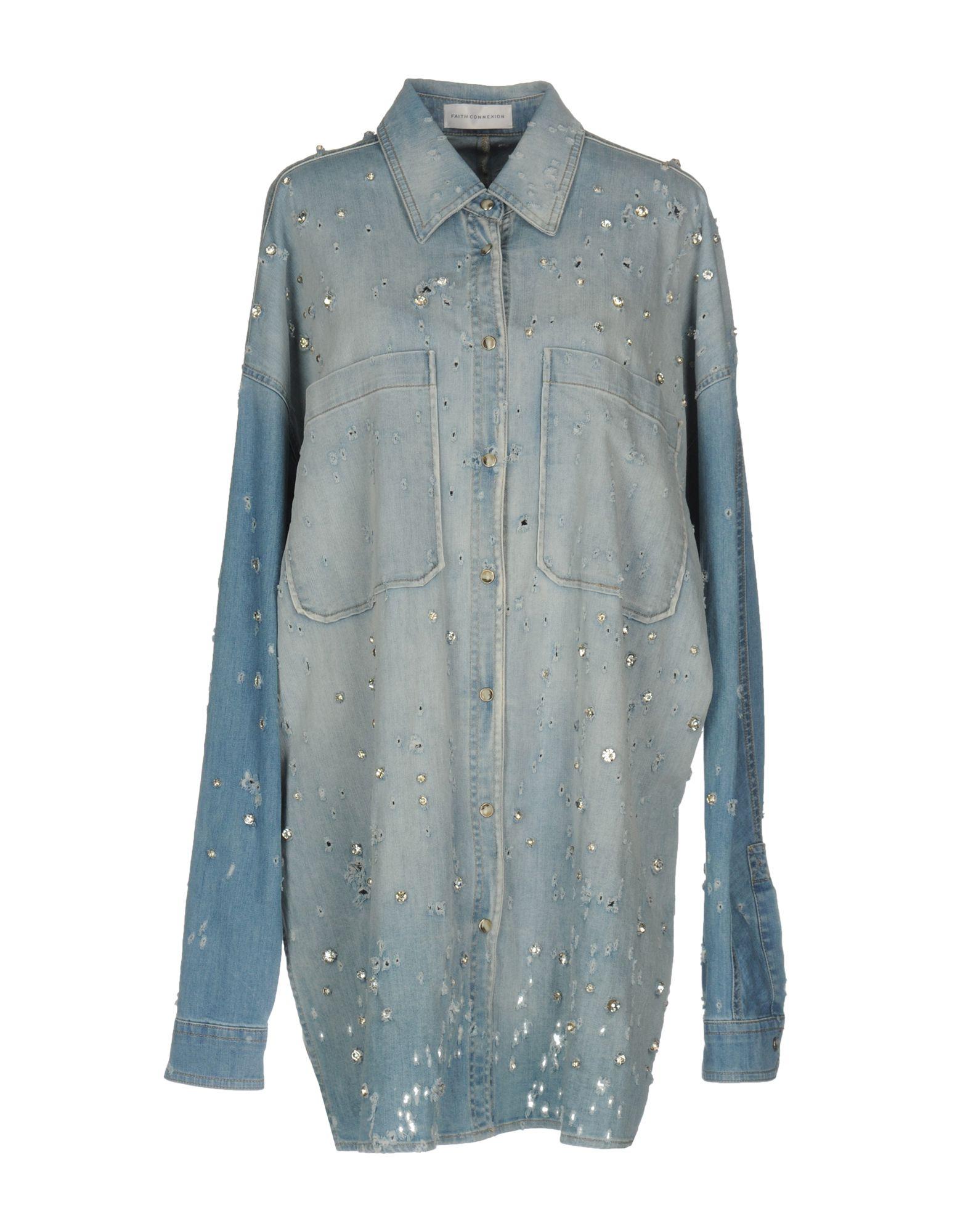 FAITH CONNEXION Джинсовая рубашка цена 2017