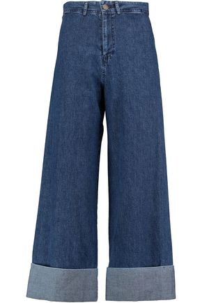 SEA High-rise wide-leg jeans