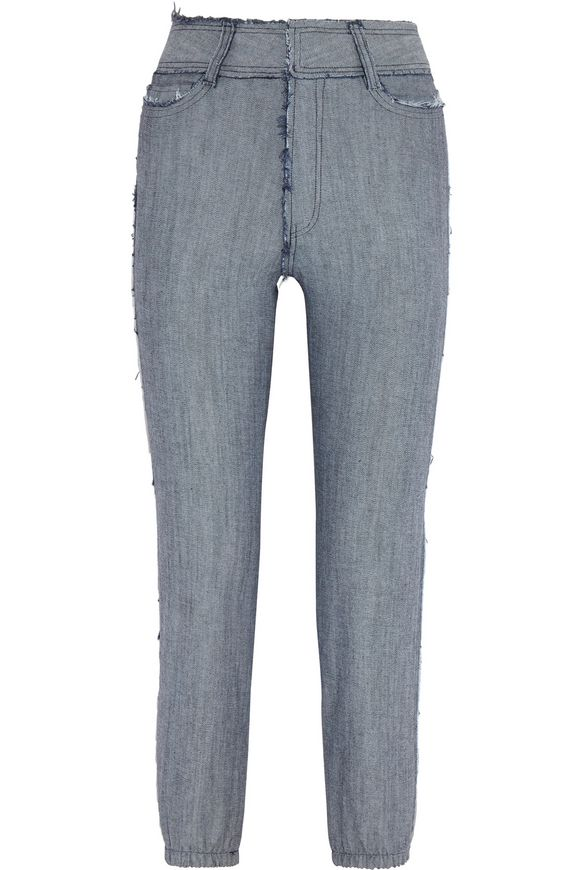 Jog high-rise faded slim-leg jeans | NORMA KAMALI | Sale up to 70% off |  THE OUTNET