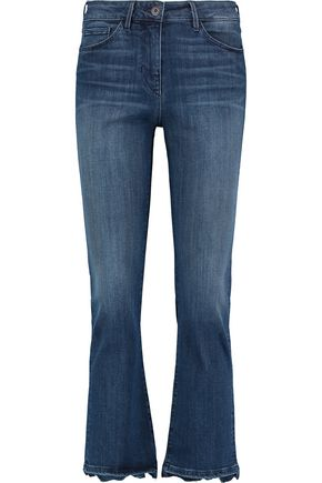 3x1 Striped mid-rise bootcut jeans