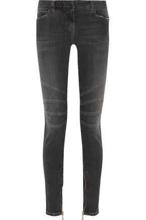 BALMAIN Mid-rise faded skinny jeans
