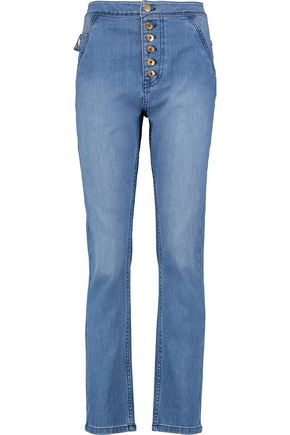ELLERY Monroe high-rise straight-leg jeans