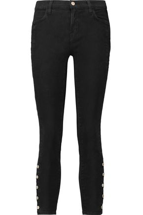 J BRAND Suvi low-rise cropped skinny jeans