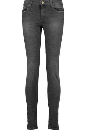 MICHAEL MICHAEL KORS Mid-rise faded skinny jeans
