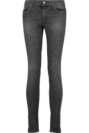 MICHAEL MICHAEL KORS Mid-rise faded skinny jeans