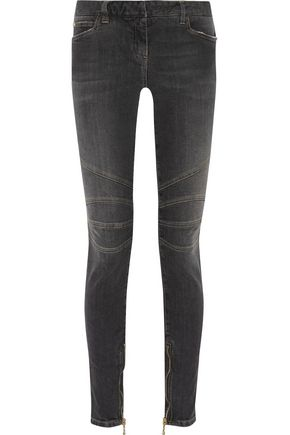 BALMAIN Mid-rise faded skinny jeans