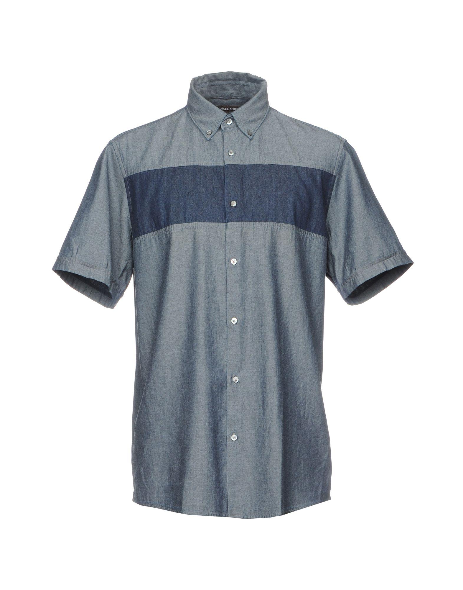 Фото - MICHAEL KORS Джинсовая рубашка брошь blucome bijouteria esmaltes 7106100495