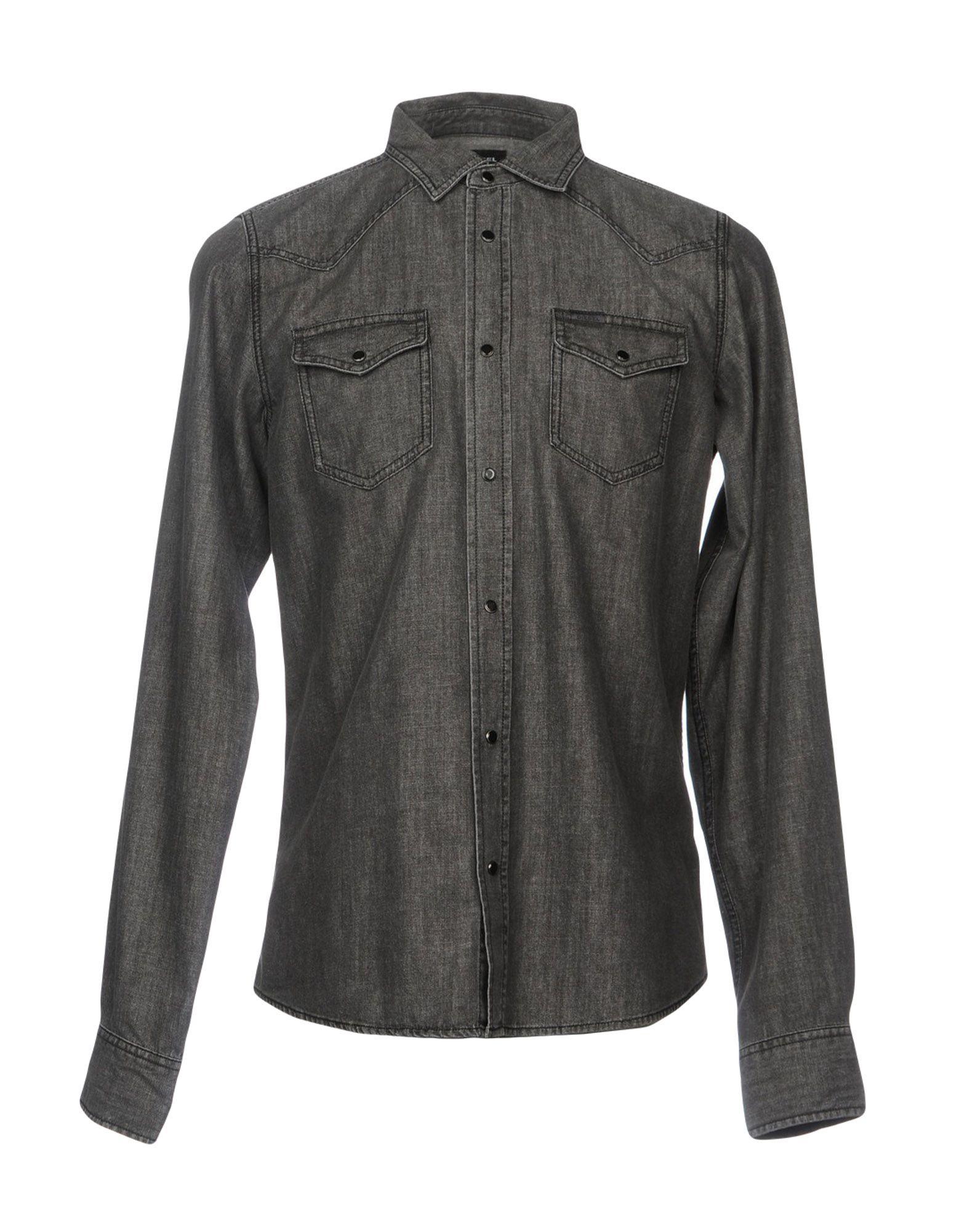 DIESEL Джинсовая рубашка mcr джинсовая рубашка