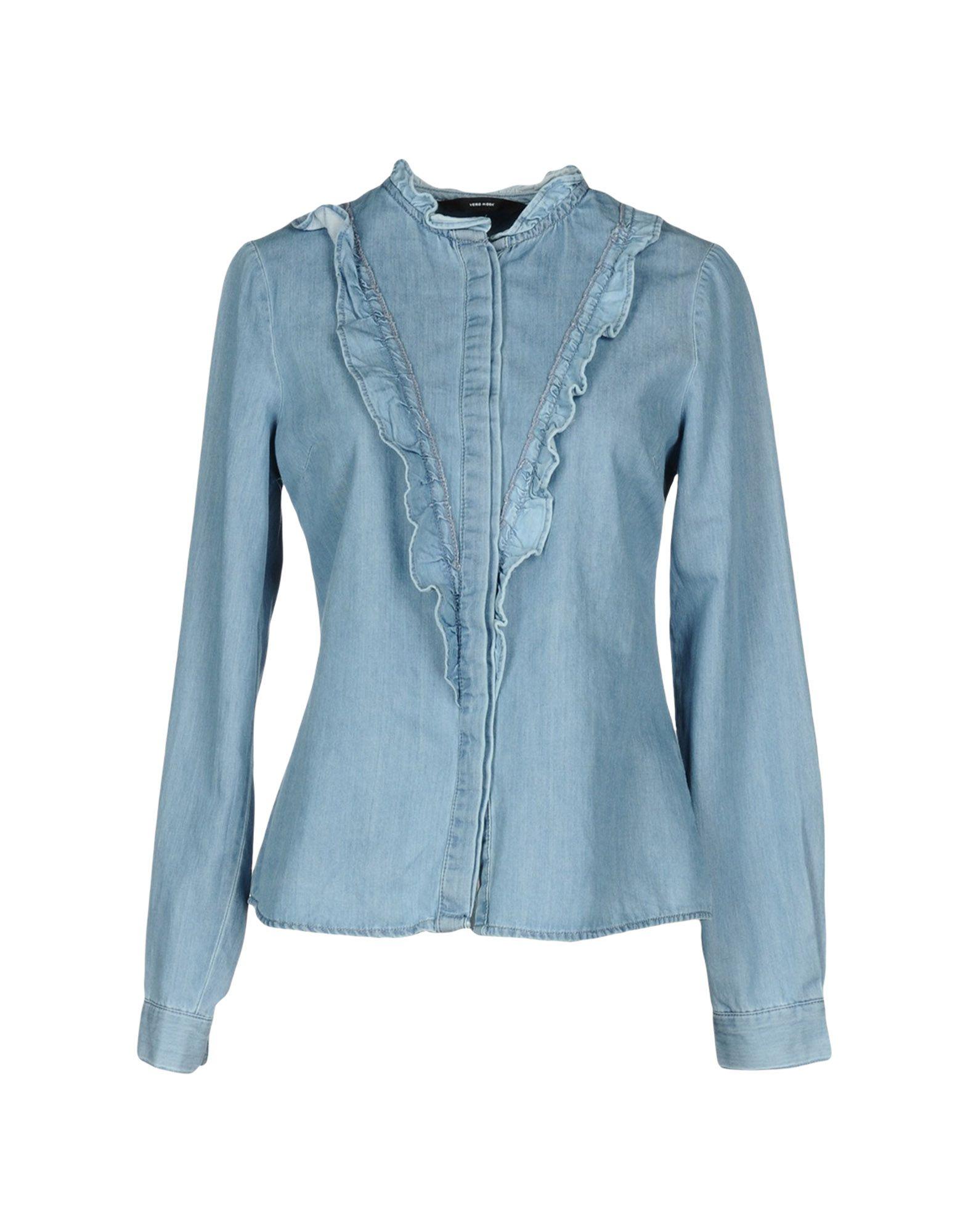 VERO MODA Джинсовая рубашка рубашка vero moda vero moda ve389ewolz10