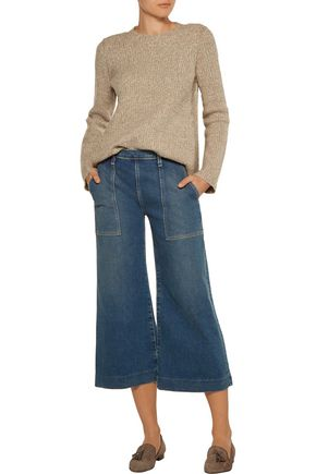 CURRENT/ELLIOTT The Culotte high-rise wide-leg jeans