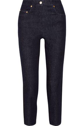 ACNE STUDIOS Gauche grosgrain-trimmed mid-rise straight-leg jeans