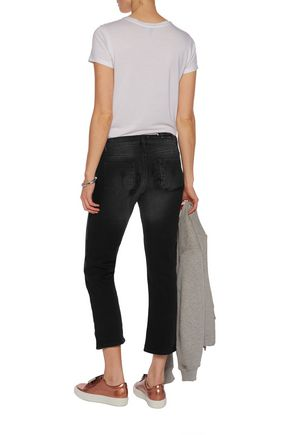 ACNE STUDIOS Cropped distressed mid-rise straight-leg jeans