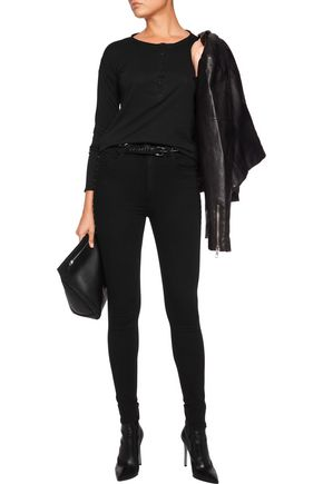 RAG & BONE Dive studded high-rise skinny jeans