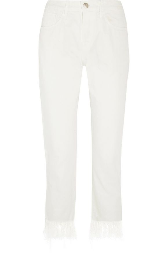 WM3 Crop Fringe mid-rise straight-leg jeans | 3x1 | Sale up to 70% off |  THE OUTNET