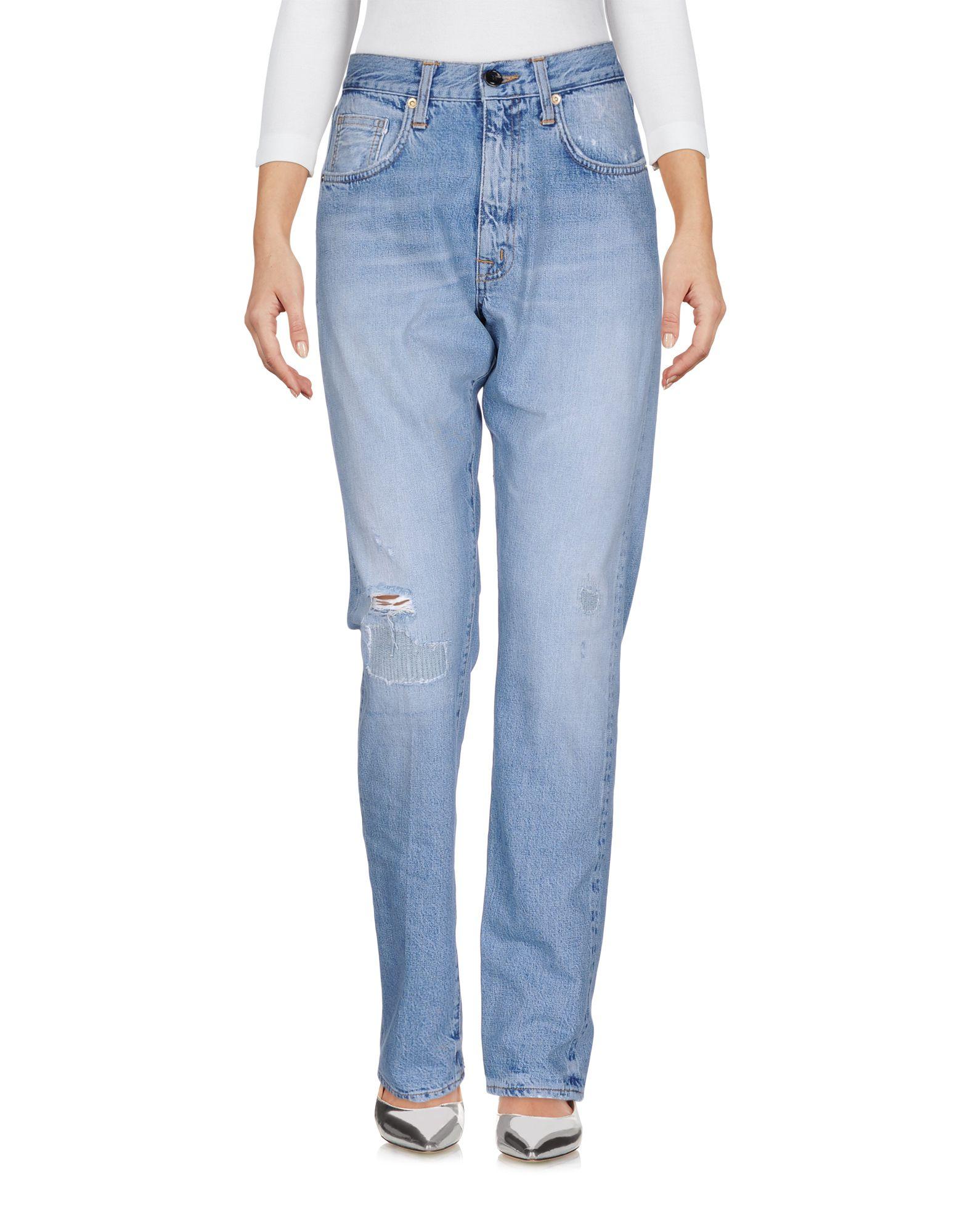 (+) PEOPLE Джинсовые брюки женские брюки лэйт светлый размер 56