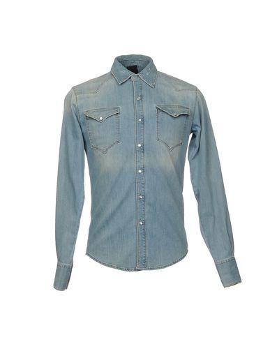 Фото - Джинсовая рубашка синего цвета