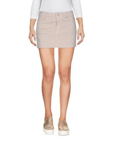 Фото - Джинсовая юбка бежевого цвета
