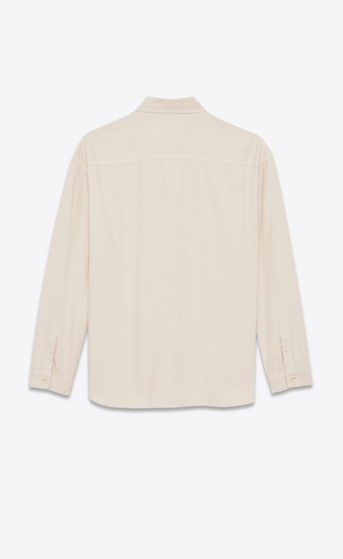 SAINT LAURENT Denim shirts D Tunic in chalk-colored denim b_V4