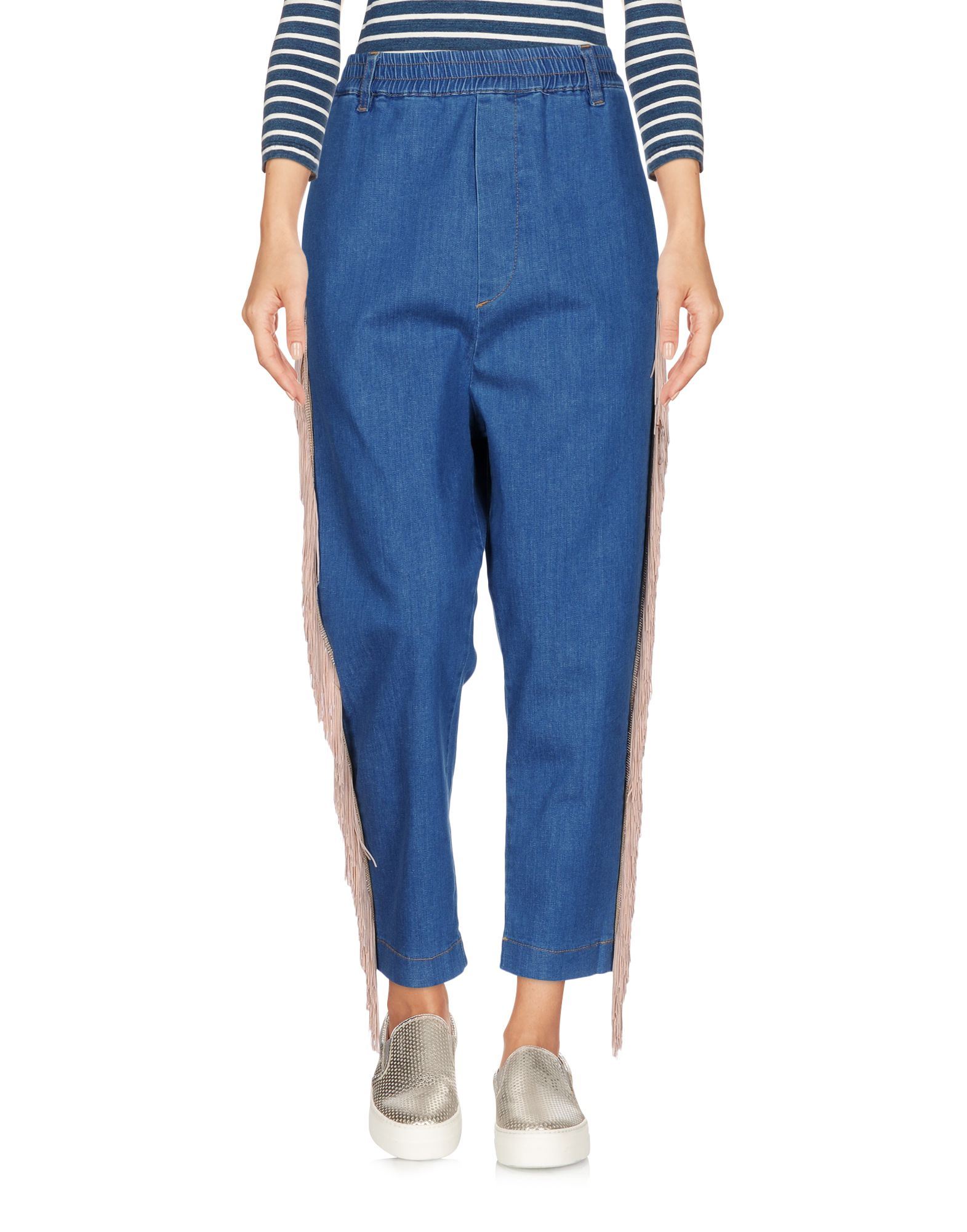 MALPH Джинсовые брюки-капри malph шарф