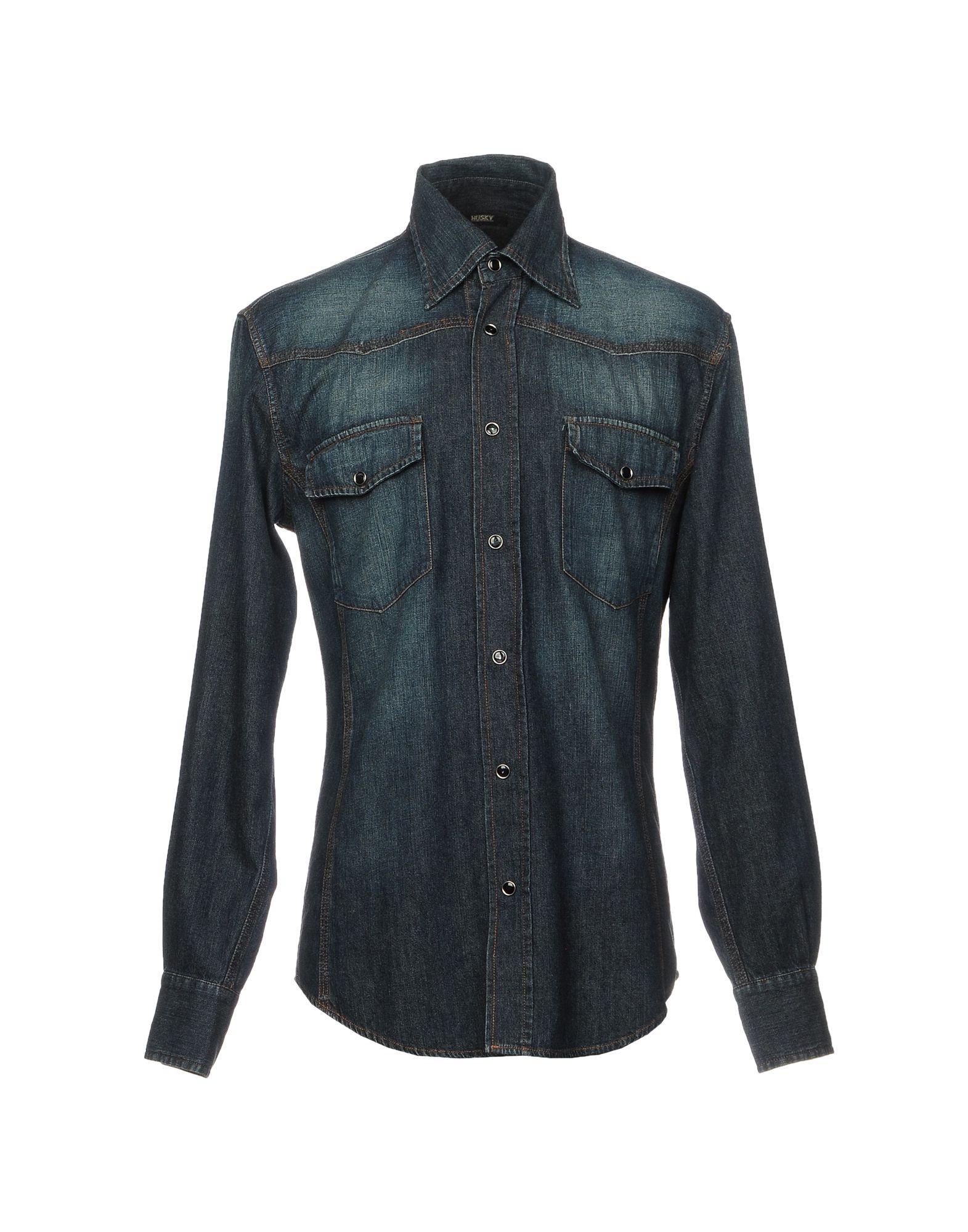 HUSKY Джинсовая рубашка рубашка animal husky shirt greeny