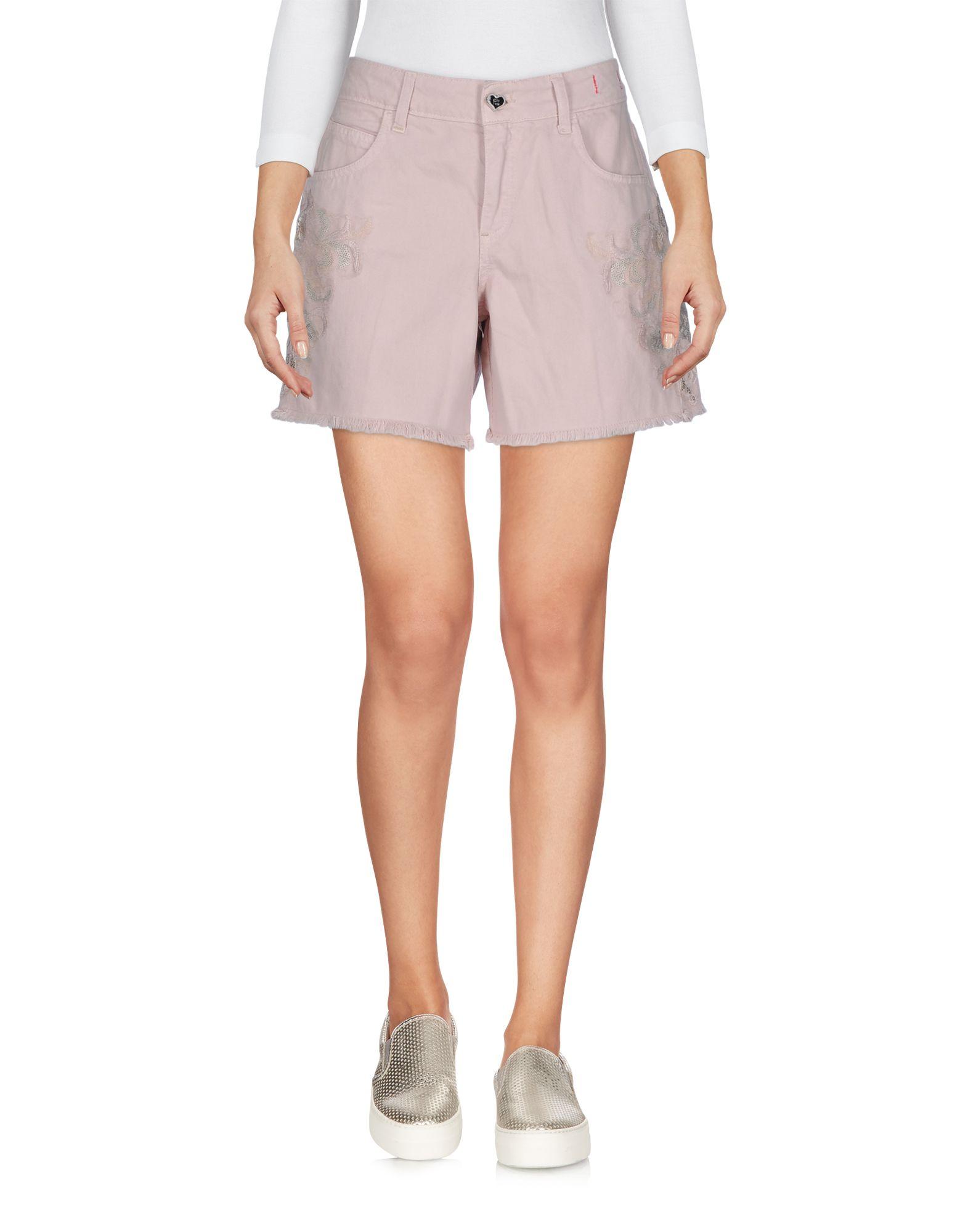 Фото TWIN-SET Simona Barbieri Джинсовые шорты. Купить с доставкой