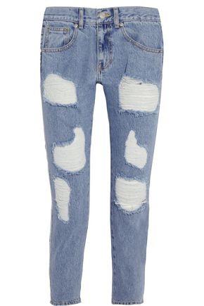 SJYP Distressed mid-rise boyfriend jeans