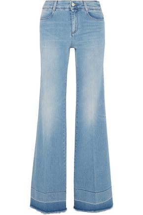 STELLA McCARTNEY Frayed wide-leg jeans