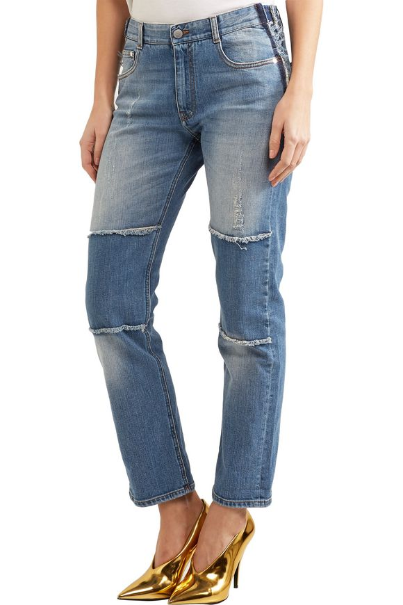 Patchwork boyfriend jeans | STELLA McCARTNEY | Sale up to 70% off | THE  OUTNET