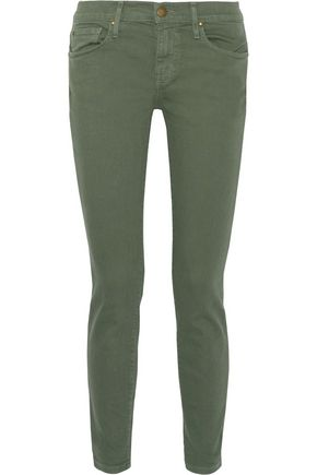 THE GREAT. Cropped mid-rise skinny jeans