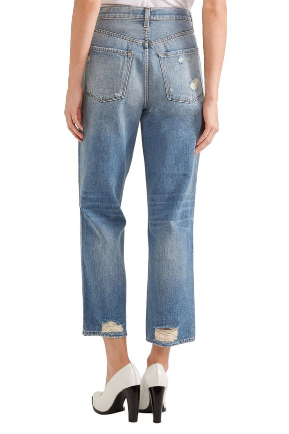 Ivy cropped distressed high-rise straight-leg jeans | J BRAND | Sale up to  70% off | THE OUTNET