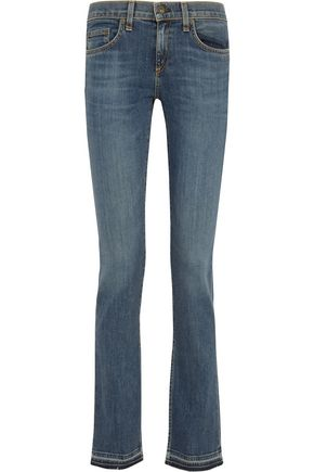 RAG & BONE Lottie low-rise frayed bootcut jeans