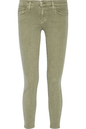 CURRENT/ELLIOTT The Stiletto cropped mid-rise skinny jeans ...