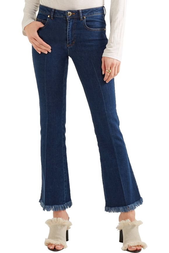 Cropped frayed mid-rise flared jeans | SONIA RYKIEL | Sale up to 70% off |  THE OUTNET