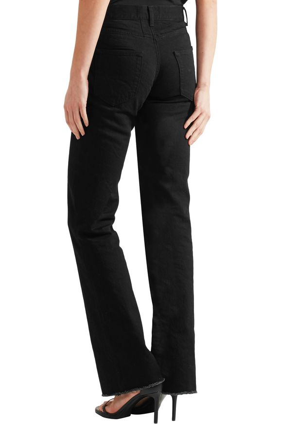 Frayed high-rise flared jeans | SAINT LAURENT | Sale up to 70% off | THE  OUTNET