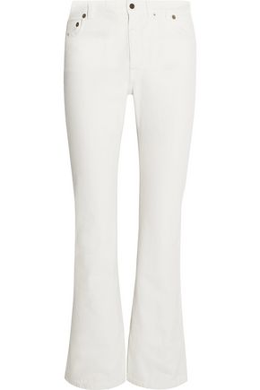 SAINT LAURENT Cropped high-rise flared jeans