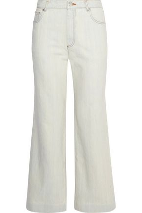 A.P.C. Sailor cropped high-rise wide-leg jeans