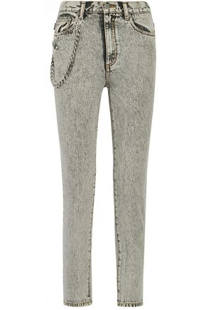 MARC JACOBS Embellished appliquéd high-rise skinny jeans