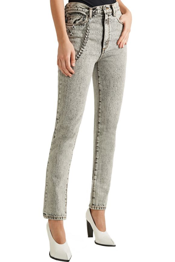 Embellished appliquéd high-rise skinny jeans | MARC JACOBS | Sale up to 70%  off | THE OUTNET