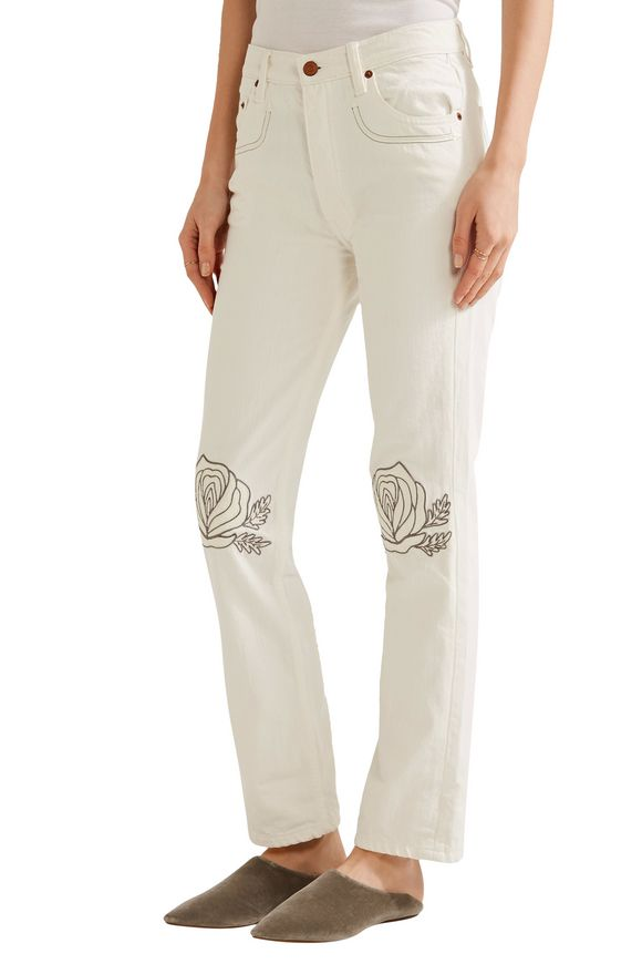 Song of the West embroidered straight-leg jeans | BLISS AND MISCHIEF | Sale  up to 70% off | THE OUTNET